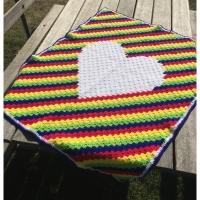 c2c heart baby blanket
