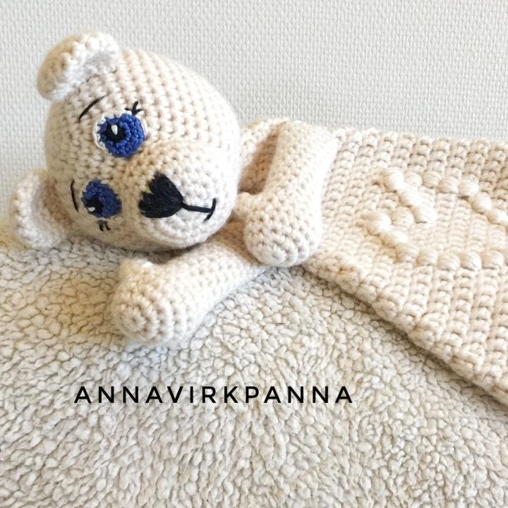 Mönster Snutte Isbjörn / Pattern PolarbearRagdoll
