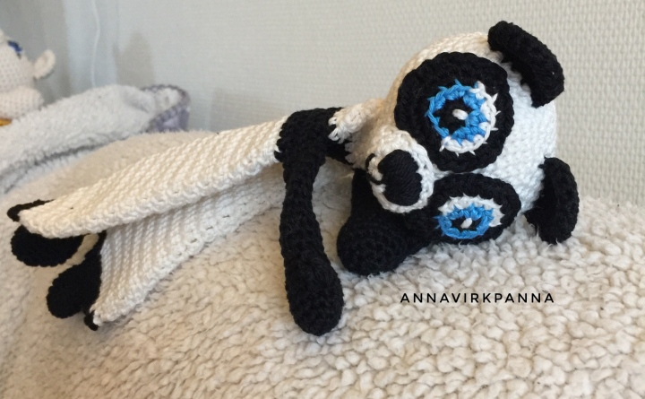 Mönster PandaSnuttis / Pattern PandaRagdoll