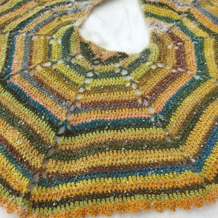 pineapple twist shawl