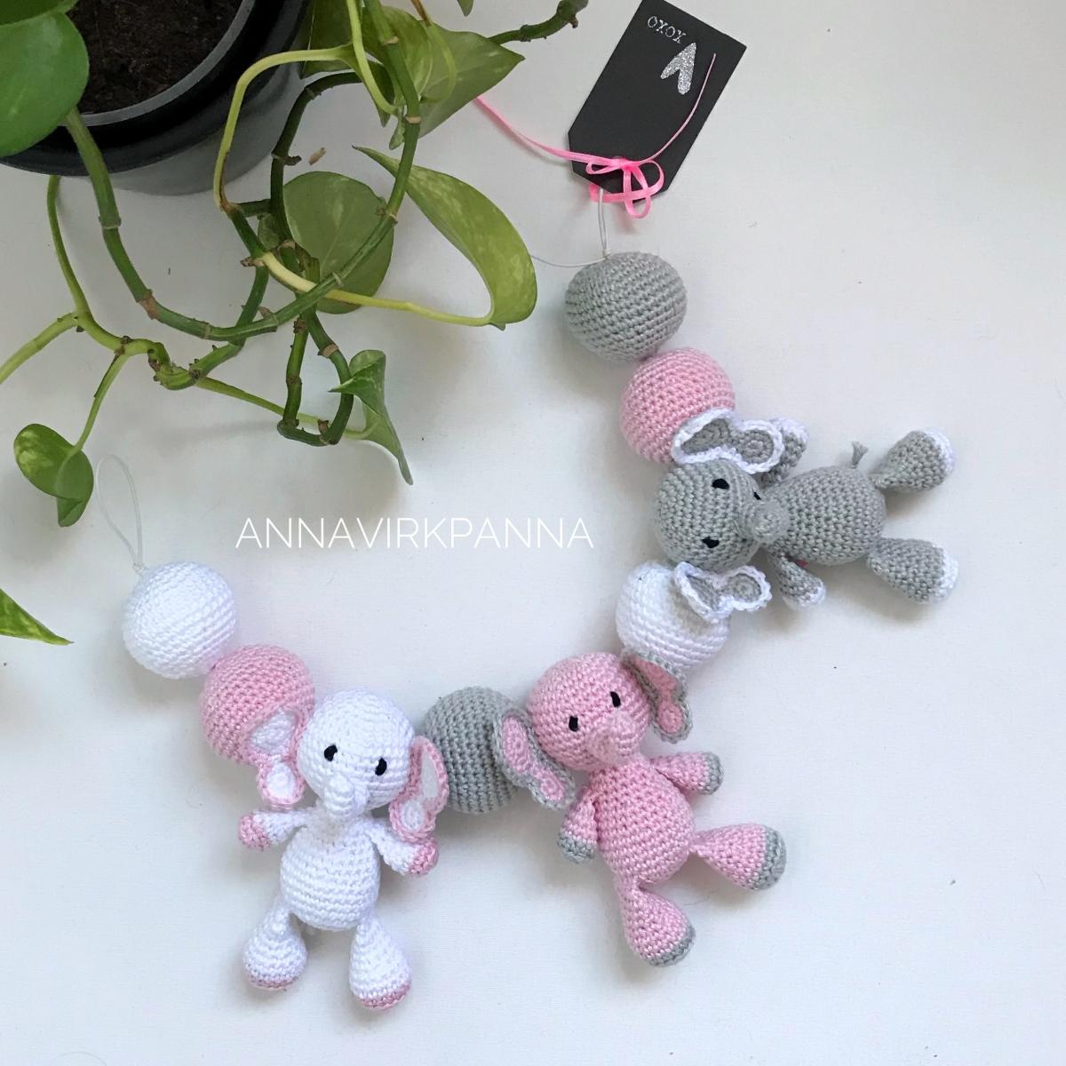 Mönster babymobil Elefant / Pattern strollermobile Elephant