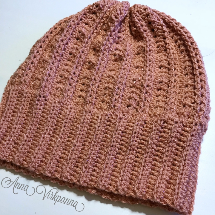 sparkly lace beanie