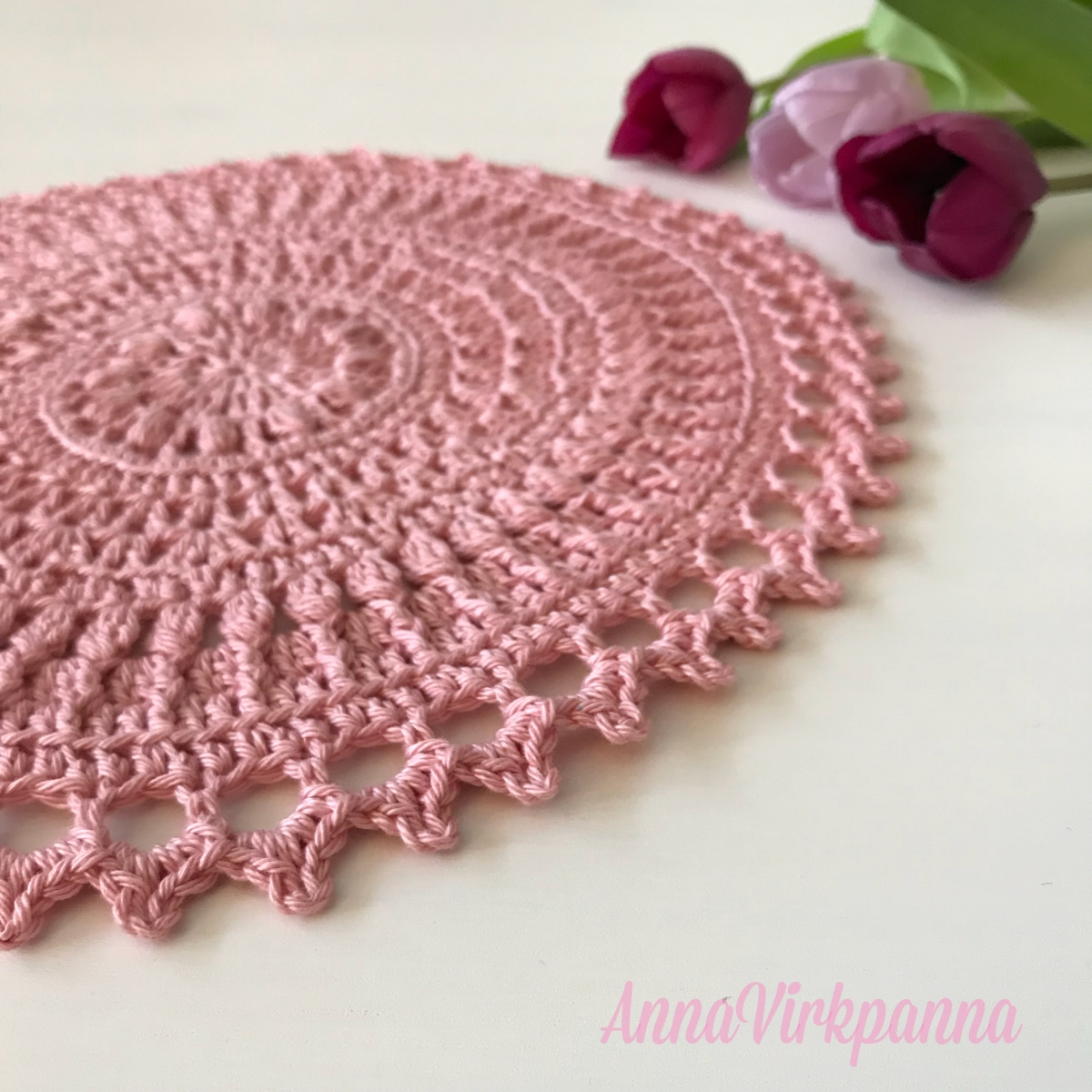 Mönster/Pattern Winter Rose Mandala