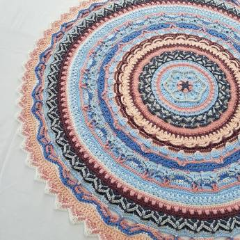 marie unicorn mandala denim rose