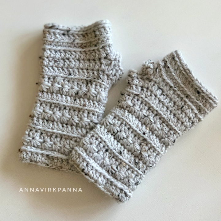 Winter Stars torgvantar / fingerless mitts